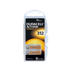duracell hearing aid batteries size 312 brown
