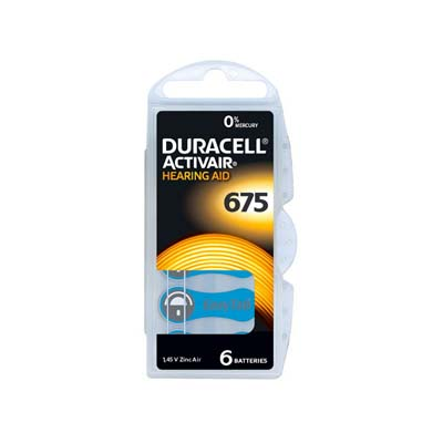 duracell hearing aid batteries size 675 blue